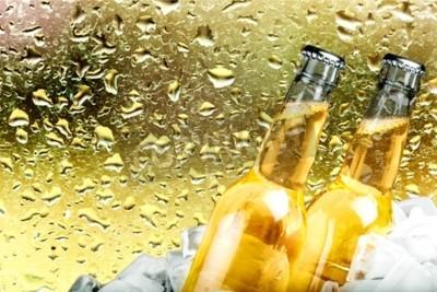 Fotomural Cerveza, Botella de cerveza, Hielo.