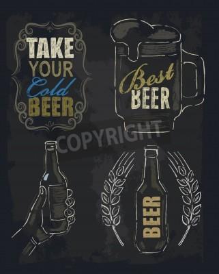 Fotomural Cerveza tiza