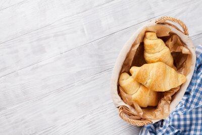 Fotomural Cesta de croissants frescos