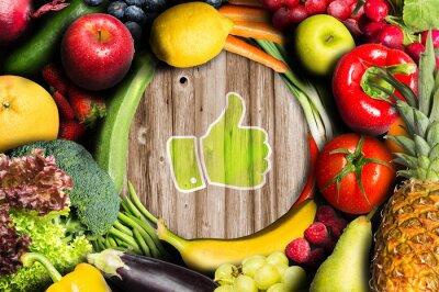 Fotomural Chapeau para frutas y verduras