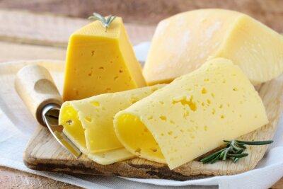 Fotomural Cheeseboard diferentes tipos de queso para un aperitivo