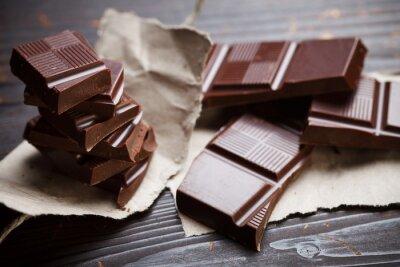 Fotomural Chocolate con papel rústico