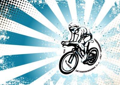 Fotomural ciclismo retro fondo del cartel