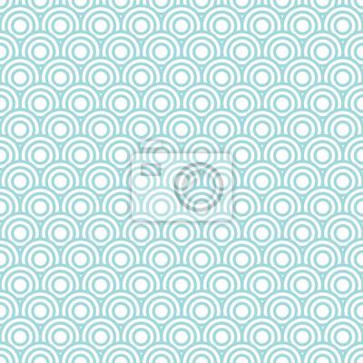 Fotomural Circles Pattern Retro Seamless Turquoise