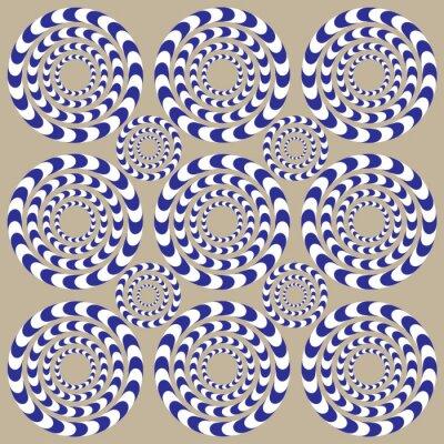 Fotomural Círculos de la vuelta (ilusión)