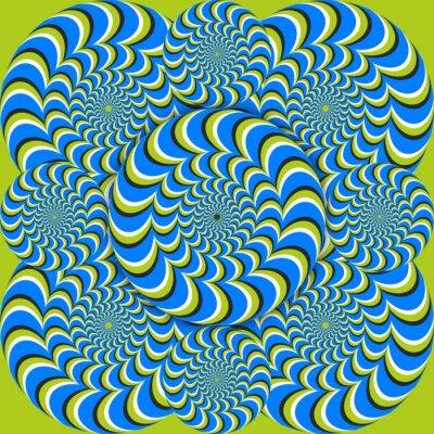 Fotomural círculos de onda ilusión óptica