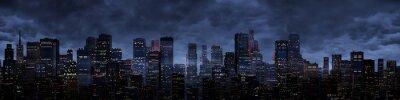 Fotomural Ciudad de la noche panorama