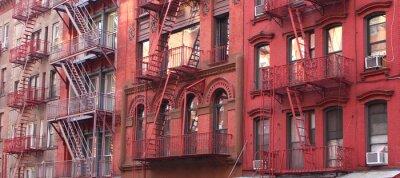 Fotomural Ciudad de Nueva York / Escalera de incendio