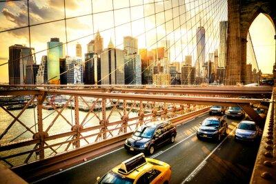Fotomural Ciudad de Nueva York, horizonte puente de Brooklyn