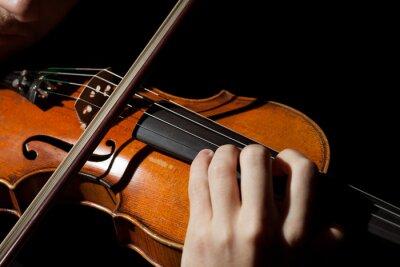 Fotomural Close-up foto de hombre tocando el violín