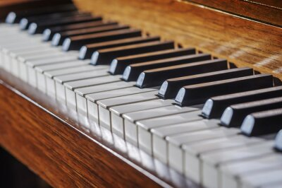 Fotomural Close up of piano keyboard with limited depth of field