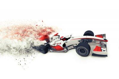 Fotomural Coche de carreras genérica Superfast 3D