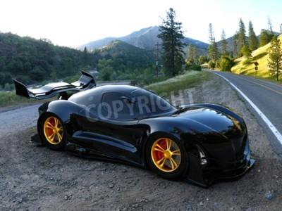 Fotomural coche deportivo