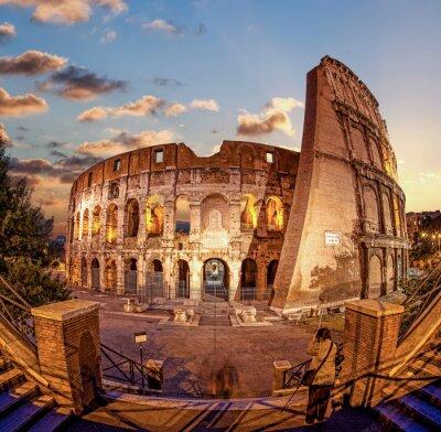 Fotomural Coliseo en la noche, Roma, Italia