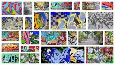 Fotomural collage ... el graffiti