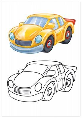Fotomural coloración de coche de juguete de color amarillo