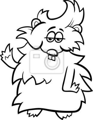Colorear dibujos animados cuy fotomural • fotomurales conejillo de ...