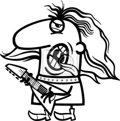 Colorear dibujos animados rockman fotomural • fotomurales guitarra ...