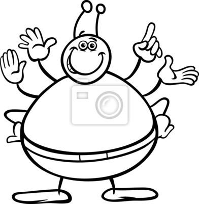 Colorear personaje de dibujos animados extranjero fotomural ...