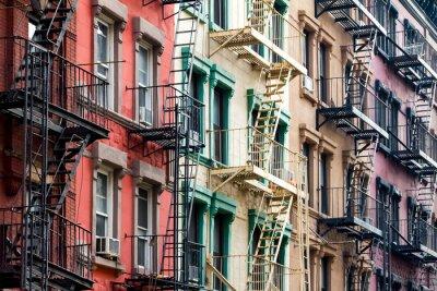 Fotomural Colored Apartment Buildings en Nueva York