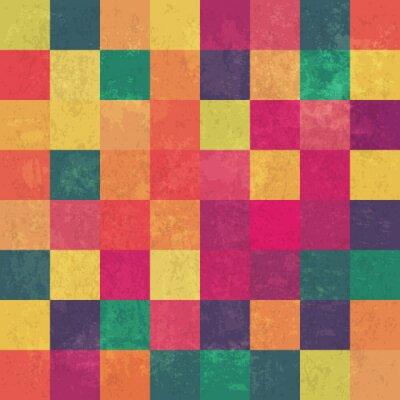 Fotomural Colores de fondo vector vintage retro squary