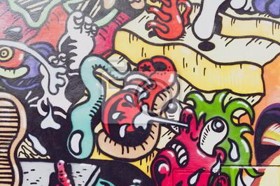 Fotomural colorés de graffiti