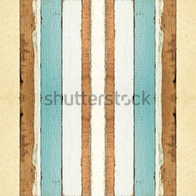 Fotomural Colorida textura de tablones de madera vieja sin costura, se puede utilizar para el fondo