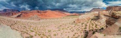 Fotomural Coloridas formaciones rocosas en Quebrada de Cafayate, Argentina