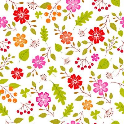 Fotomural Colorido patrón de flores sin fisuras