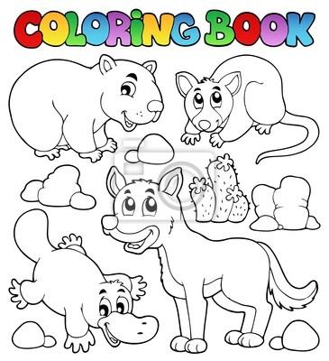 Coloring book fauna australiana 1 fotomural • fotomurales zarigüeya ...