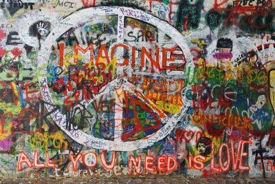 Fotomural Colourfull paz graffiti en la pared