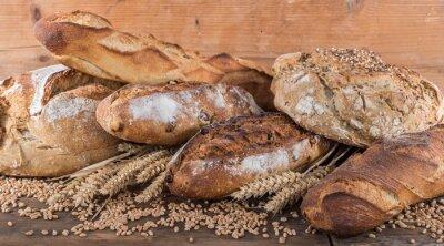 Fotomural Composición de varios tipos de pan