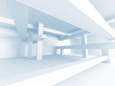 Fotomural Concepto Abstracto De La Configuración. Diseño De Interiores Del Edificio Moderno