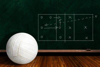 Fotomural Concepto de juego con voleibol y tiza