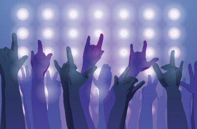 Fotomural Concierto de rock. Manos arriba.
