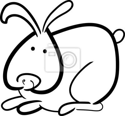 Conejo De Dibujos Animados Para Colorear Libro Fotomural