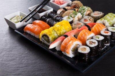 Fotomural Conjunto de sushi japonés marisco