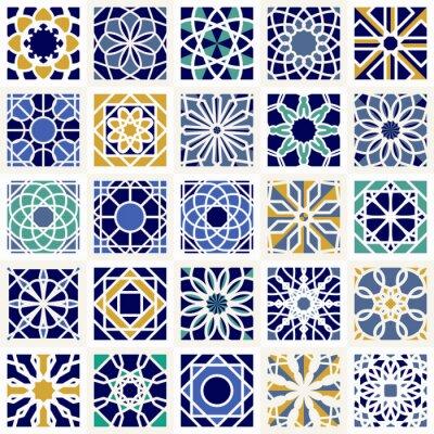 Fotomural Conjunto de vectores de patrones geométricos