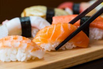 Fotomural Conjunto del sushi, comida japonesa
