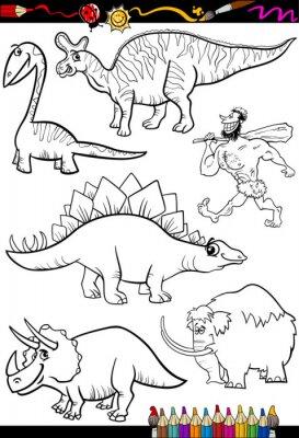 Fotomural conjunto prehistórico de dibujos