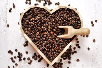 Fotomural Corazón de granos de café