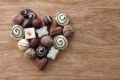 Fotomural Corazón de los caramelos de chocolate