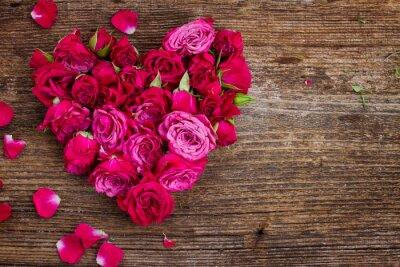 Fotomural corazón de rosas