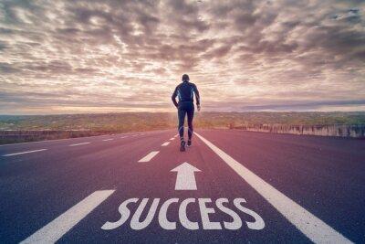 Fotomural Corre hacia el éxito