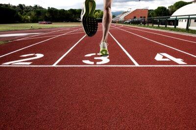 Fotomural Correr en pista atlética