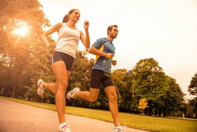 Fotomural Correr juntos - deporte joven pareja