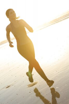 Fotomural Corriendo en la playa