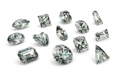 Fotomural Cortes de diamante