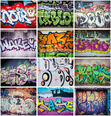 Fotomural Couleurs Graffitis