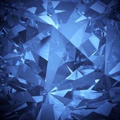 Fotomural Cristal azul de fondo de lujo faceta